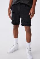 Factorie - Slim cut denim short - washed black