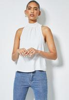 Superbalist - Hi neck blouse with wrap back - white