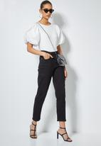 Superbalist - Combo fabric puff sleeve top - white