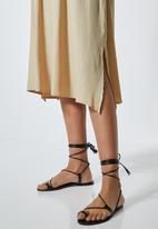 Superbalist - Textured off the shoulder dress - light stone