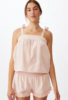 Cotton On - Woven bed cami - dusty blush