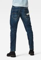 G-Star RAW - Arc 3d slim wokkie aw-elto pure stretch denim - antic faded baum blue