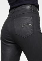 G-Star RAW - G-star shape studs high super skinny wmn jeans - black