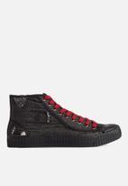 G-Star RAW - Rovulc 50 years denim mid womens sneaker - black