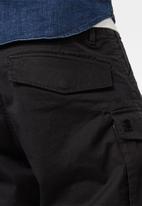 G-Star RAW - Rovic zip relaxed 1\2 zip shorts - black