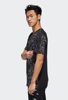 adidas Performance - Disney all over print tee - black & white