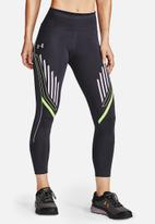 Under Armour - W UA speed pocket graphic ankle crop leggings - black & purple