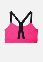 Under Armour - Armour mid impact graphic bra - pink