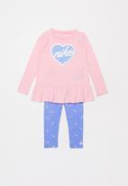 Nike - Nike swooshfetti legging set - pink & purple