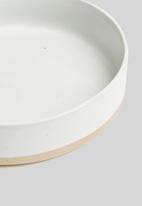 Sixth Floor - Step tapas bowl set of 4 - white & natural