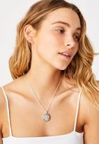 Rubi - Treasures short pendant necklace - silver mystical