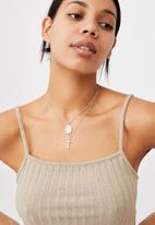 Rubi - Luxe layers multi necklace - silver saint