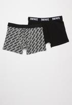 name it - Fortnite 2 pack boxer briefs - black