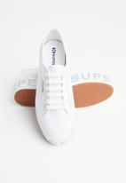 SUPERGA - 2790 glitter lettering platform - white silver