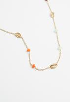 Superbalist - Cowrie shell and beaded necklace - multi