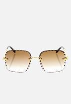 Chloe - Chloe sunglasses  - gold gradient brown