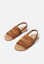 Cotton On - Woven artisian sandal - tan