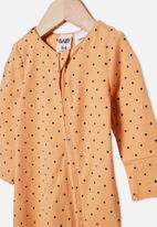 Cotton On - The long sleeve zip romper - orange