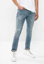 S.P.C.C. - Battle works premium feather jeans - blue