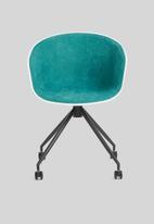Sixth Floor - Bea soft office chair - teal