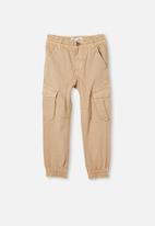 Cotton On - Noah cargo pant  - beige