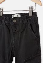Cotton On - Noah cargo pant  - black