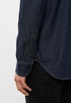 G-Star RAW - Ong sleeve utility zip regular shirt - rinsed blue