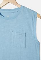 Free by Cotton On - Free boys textured tank - sky haze