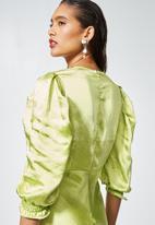 Superbalist - Textured satin bias cut dress - pistachio