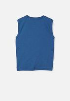 Free by Cotton On - Free boys textured tank - petty blue