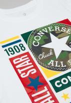 Converse - Converse boys camo mixed boxes tee - white