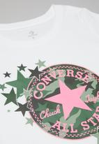 Converse - Converse girls chuck patch camo start - white