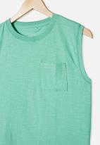 Free by Cotton On - Free boys textured tank - mint breeze