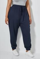Superbalist - Premium elasticated cuffed jogger - navy