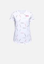 Under Armour - Ua twitch multi print short sleeves - white