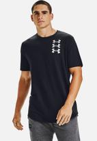 Under Armour - Ua triple stack logo short sleeve T-shirt - black