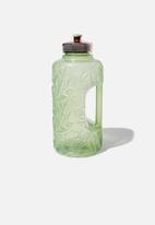 Typo - Faceted drink bottle - mint leaf