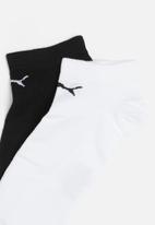 PUMA - 2 Pack foot protector secret socks - black & white