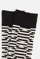 Happy Socks - Optic dot sock - white & black