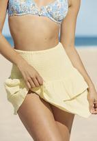 Cotton On - Shirred beach skirt - lemon