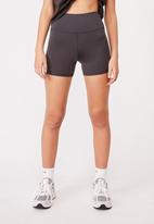 Factorie - Cheeky elevated high waisted bike short - charcoal