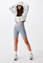Factorie - High waisted elevated bike short - fog grey