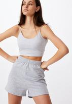Factorie - Hype fleece short - grey