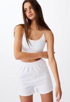 Factorie - Hype fleece short - white
