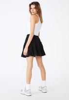 Factorie - Textured tiered skirt - black