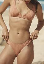 Cotton On - Refined high side brazilian bikini bottom - terracotta broiderie