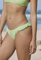 Cotton On - Refined high side brazilian bikini bottom - mint broiderie