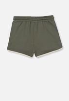 Cotton On - Nina knit short - swag green/dark vanilla