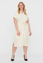 Vero Moda - Naja short sleeve calf shirt dress - birch