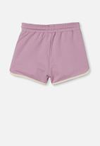 Cotton On - Nina knit short - chalky mauve/dark vanilla